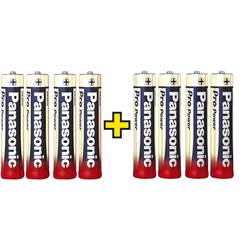 Micro baterija (AAA) alkalna, Panasonic Pro Power 4+4 gratis 1.5 V 8 kom.