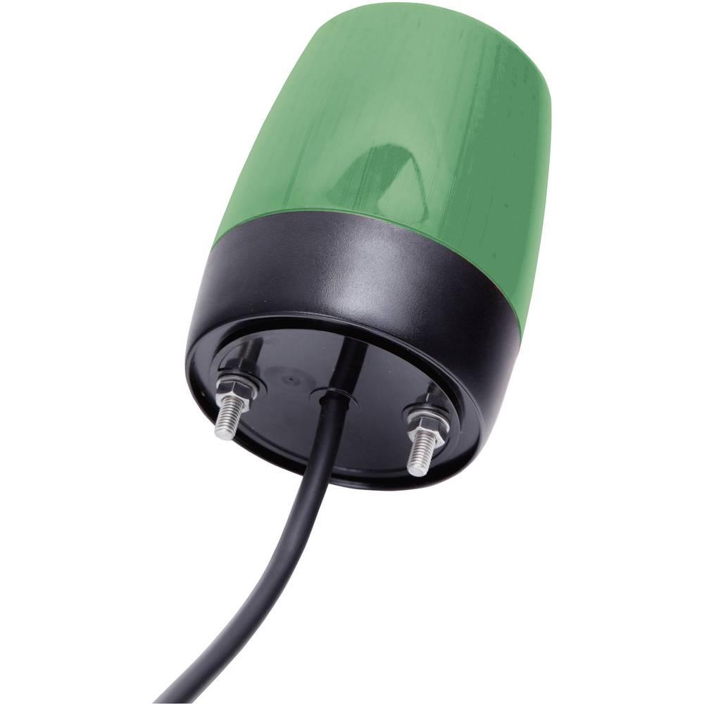 Signalna luč LED Auer Signalgeräte PCH zelena neprekinjena luč, utripajoča luč 24 V/DC, 24 V/AC