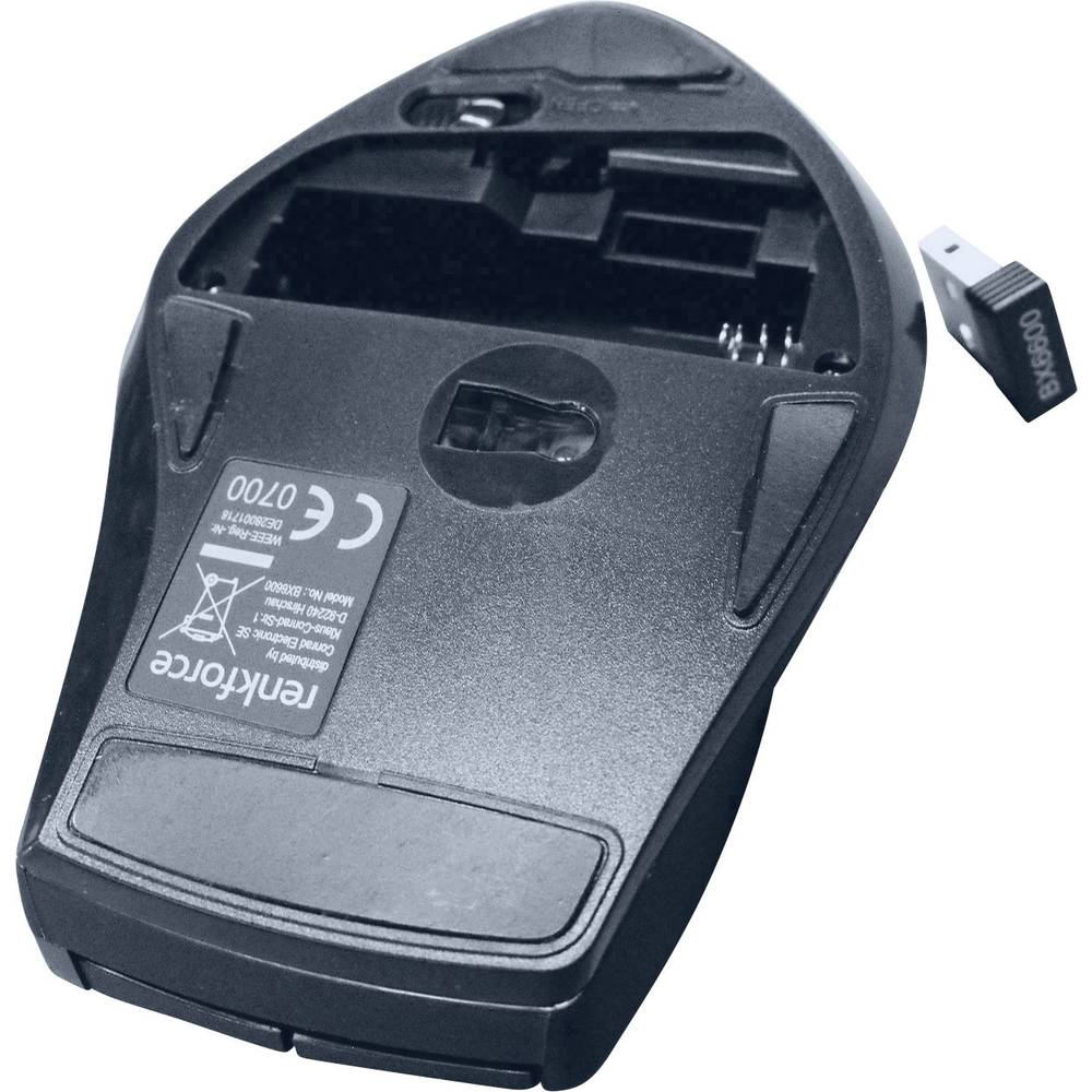 Bežični optički miš Renkforce BX6600 crna