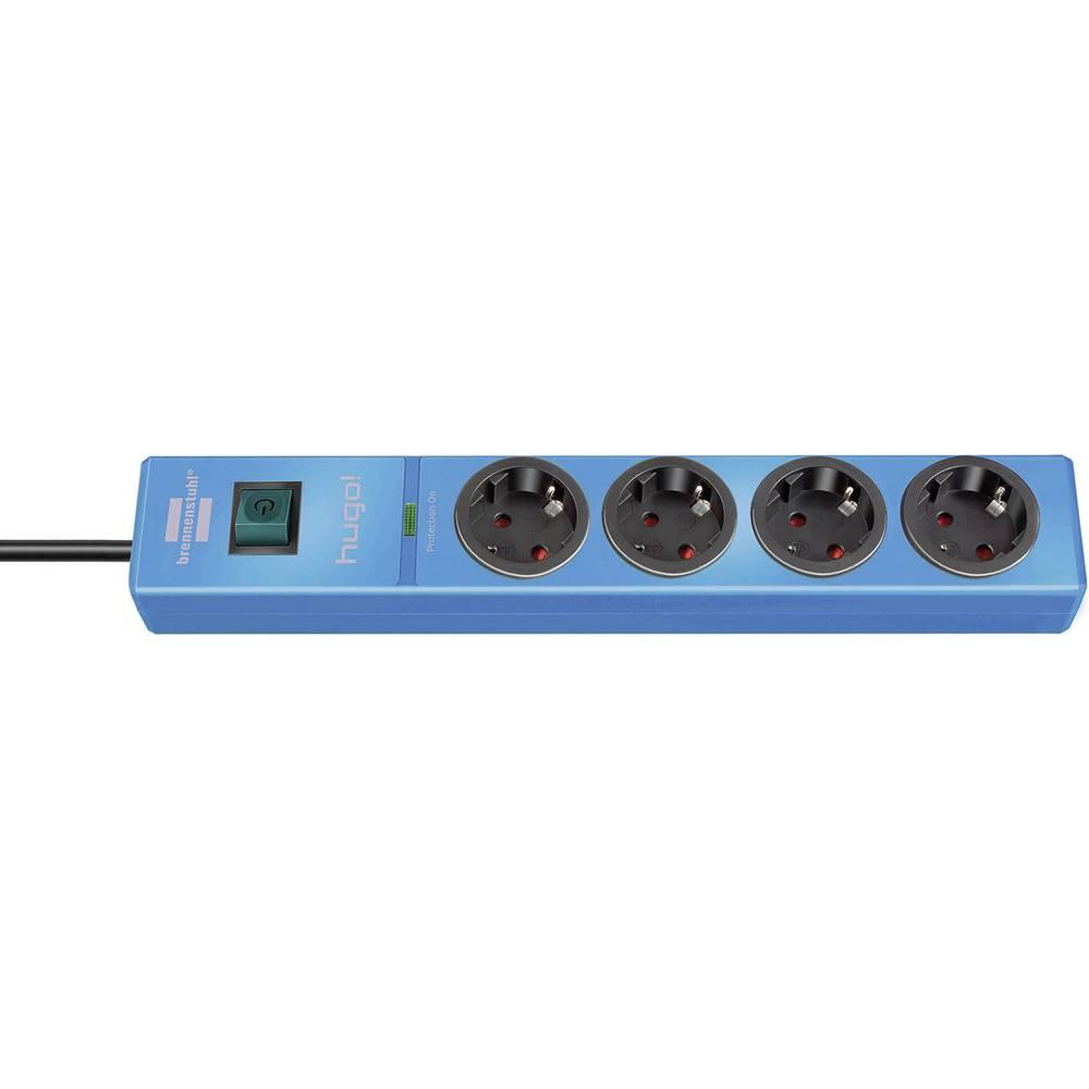 Višestruka utičnica sa zaštitom od prenapajanja 4-struka plava šuko 1150610384 Brennenstuhl