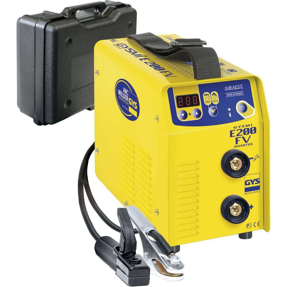 GYS varillna naprava GYSMI E200 FV s trdim kovčkom in dodatno opremo 031210 delovna napetost 110 V / 230 V