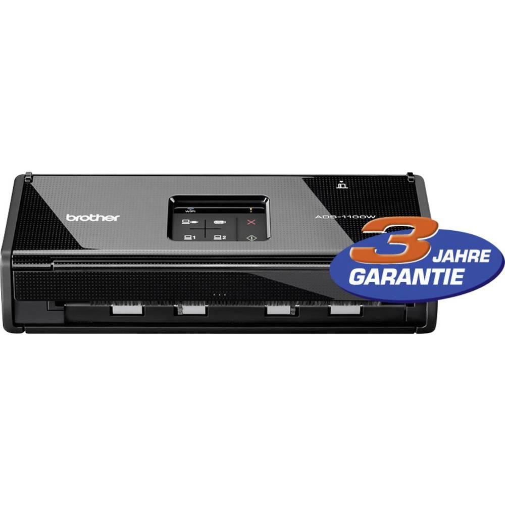 Mobilni duplex- skener dokumentovA4 Brother ADS-1100W 16 strani/min, 32 slik/min USB, USB Host, WLAN 802.11 b/g/n