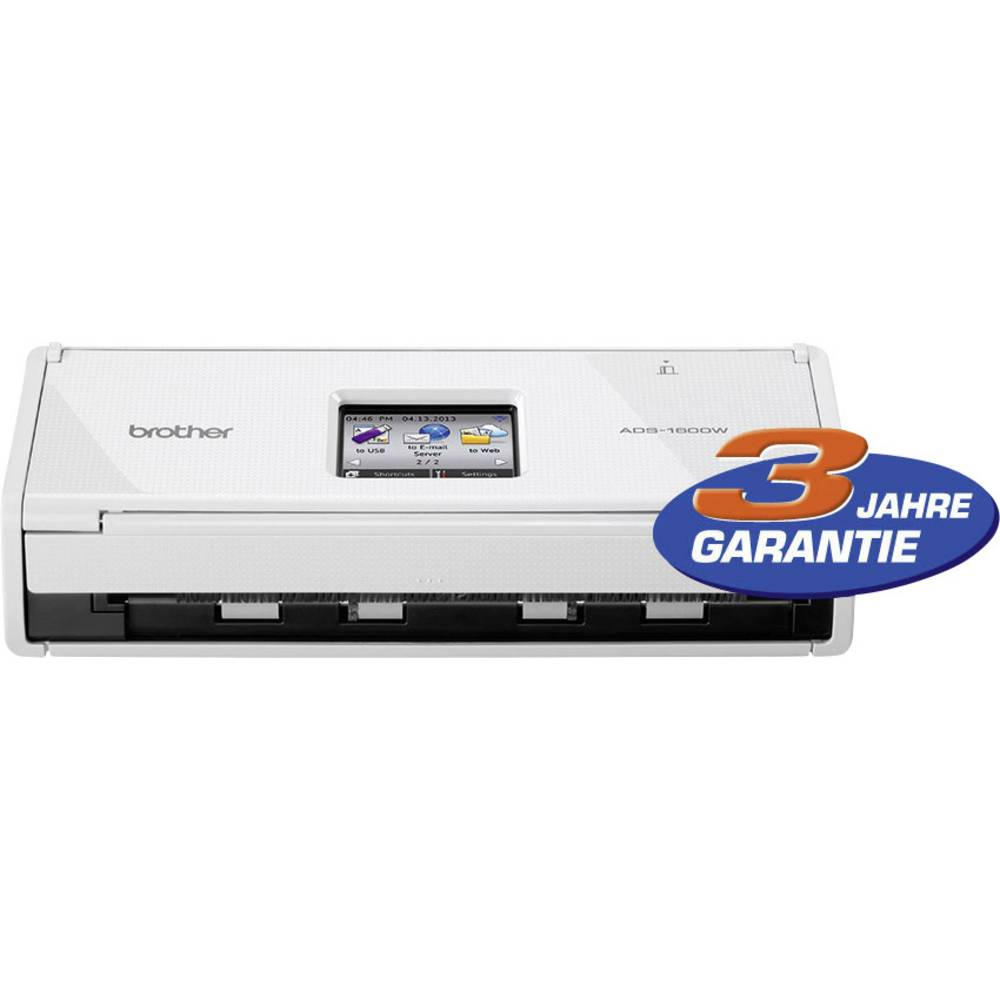 Mobilni duplex- skener dokumentovA4 Brother ADS-1600W 600 x 600 dpi 18 strani/min, 36 slik/min USB, USB Host, WLAN 802.11 b/g/n