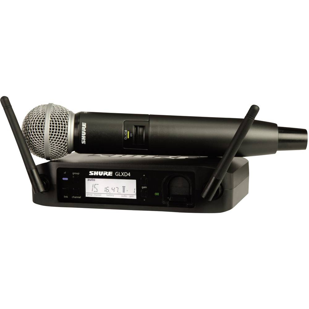 Digitalni brezžični mikrofon Shure SM58, komplet GLXD24E/SM58-Z2