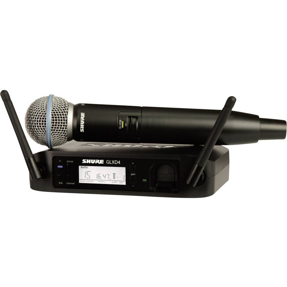 Digitalni brezžični mikrofon Shure Beta 58A, komplet GLXD24E/B58-Z2