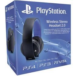 Gaming-headset Sony Playstation® Wireless Stereo Headset 2.0 Over Ear Svart/Blå