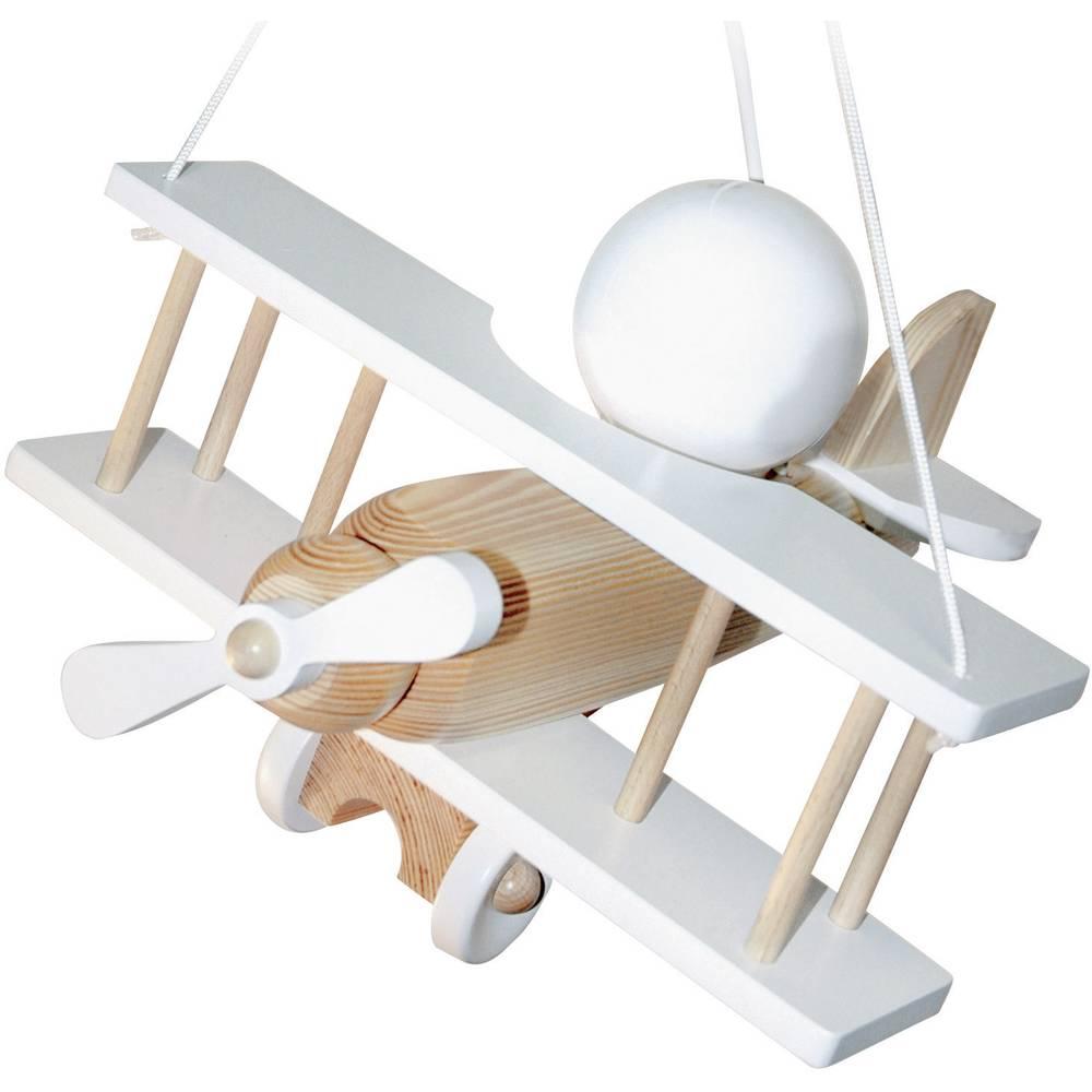 Viseća svjetiljka Avion štedna svjetiljka E27 15 W Waldi Leuchten Doppeldecker natur-bijela