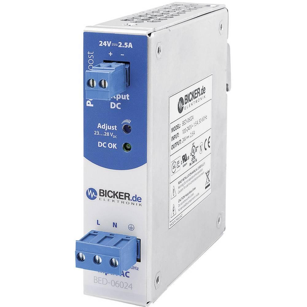 Adapter napajanja za profilne šine (DIN-letva) Bicker Elektronik BED-06024 28 V/DC 2.5 A 60 W 1 x