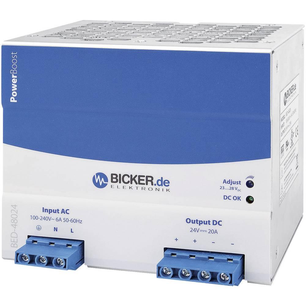 Adapter napajanja za profilne šine (DIN-letva) Bicker Elektronik BED-48024 28 V/DC 20 A 480 W 1 x