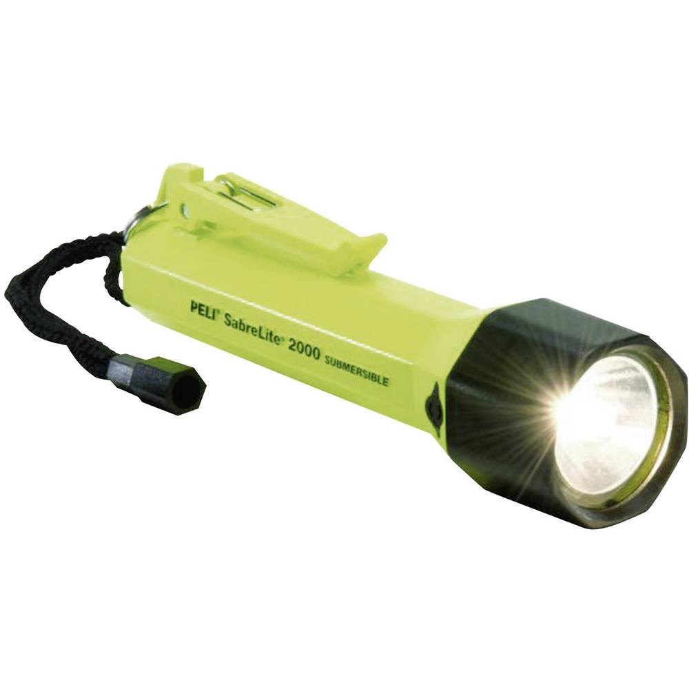 Ksenonska žepna luč PELI SabreLite 2000 baterijski pogon 53 lm 360 g rumene barve