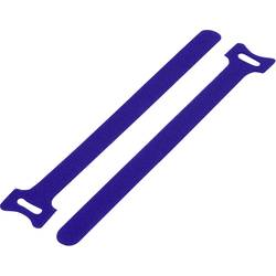Sprijemalne kabelske vezice za povezovanje, oprijemni in mehki del (D x Š) 125 mm x 12 mm modre barve TRU Components TC-MGT-125B