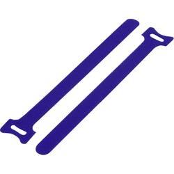 Sprijemalne kabelske vezice za povezovanje, oprijemni in mehki del (D x Š) 150 mm x 10 mm modre barve TRU Components TC-MGT-150M