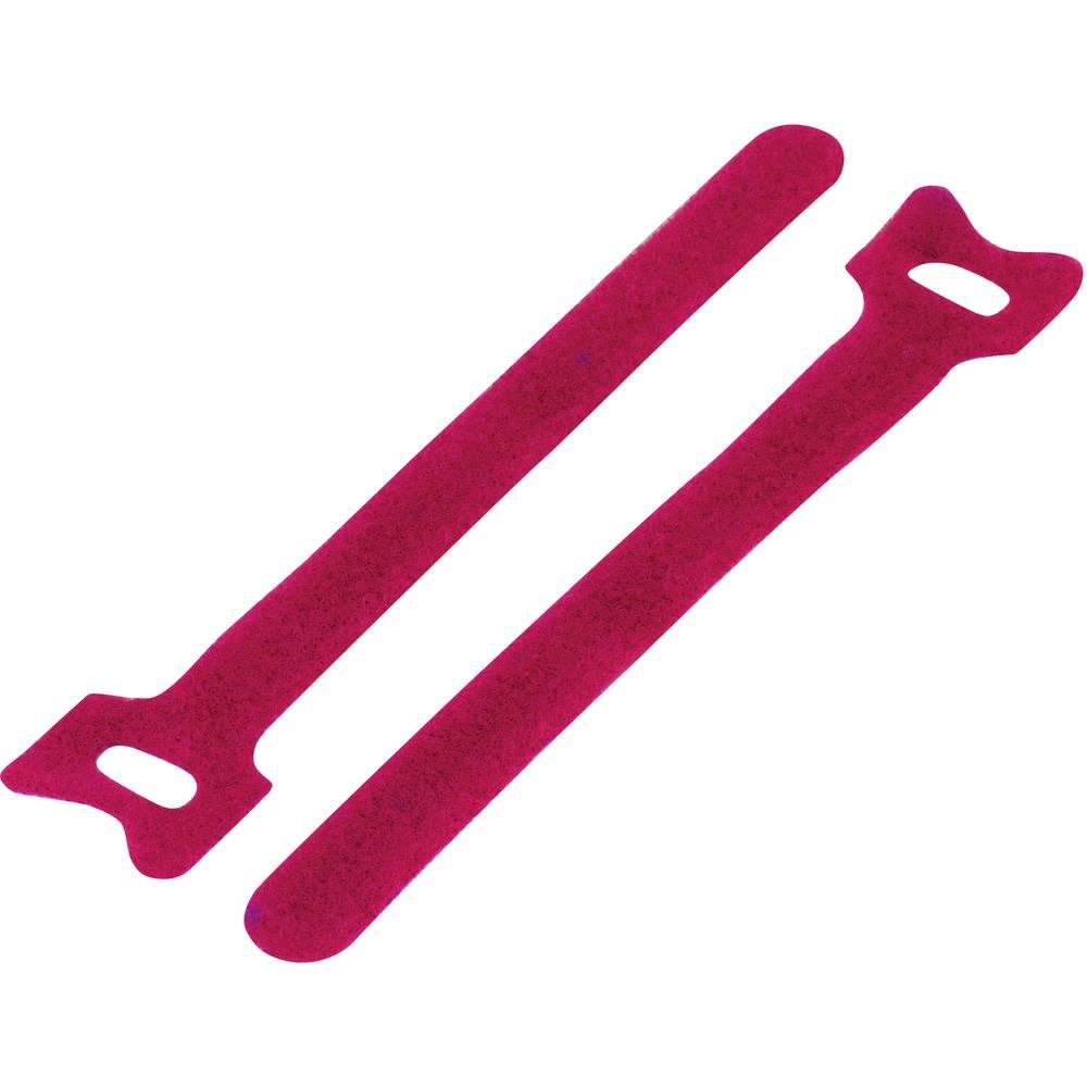 Sprijemalni trak za povijanje, oprijemen in mehek del (D x Š) 150 mm x 10 mm rdeča KSS MGT-150MRD 1 kos