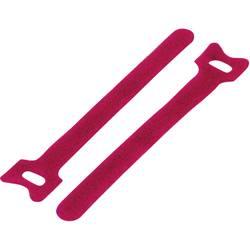 Sprijemalne kabelske vezice za povezovanje, oprijemni in mehki del (D x Š) 150 mm x 10 mm rdeče barve TRU Components TC-MGT-150M