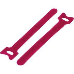 Sprijemalne kabelske vezice za povezovanje, oprijemni in mehki del (D x Š) 210 mm x 16 mm rdeče barve TRU Components TC-MGT-210R