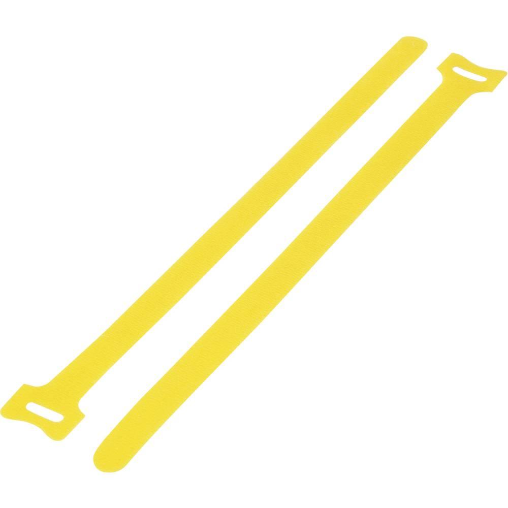 Sprijemalni trak za povijanje, oprijemen in mehek del (D x Š) 210 mm x 16 mm rumena KSS MGT-210YW 1 kos