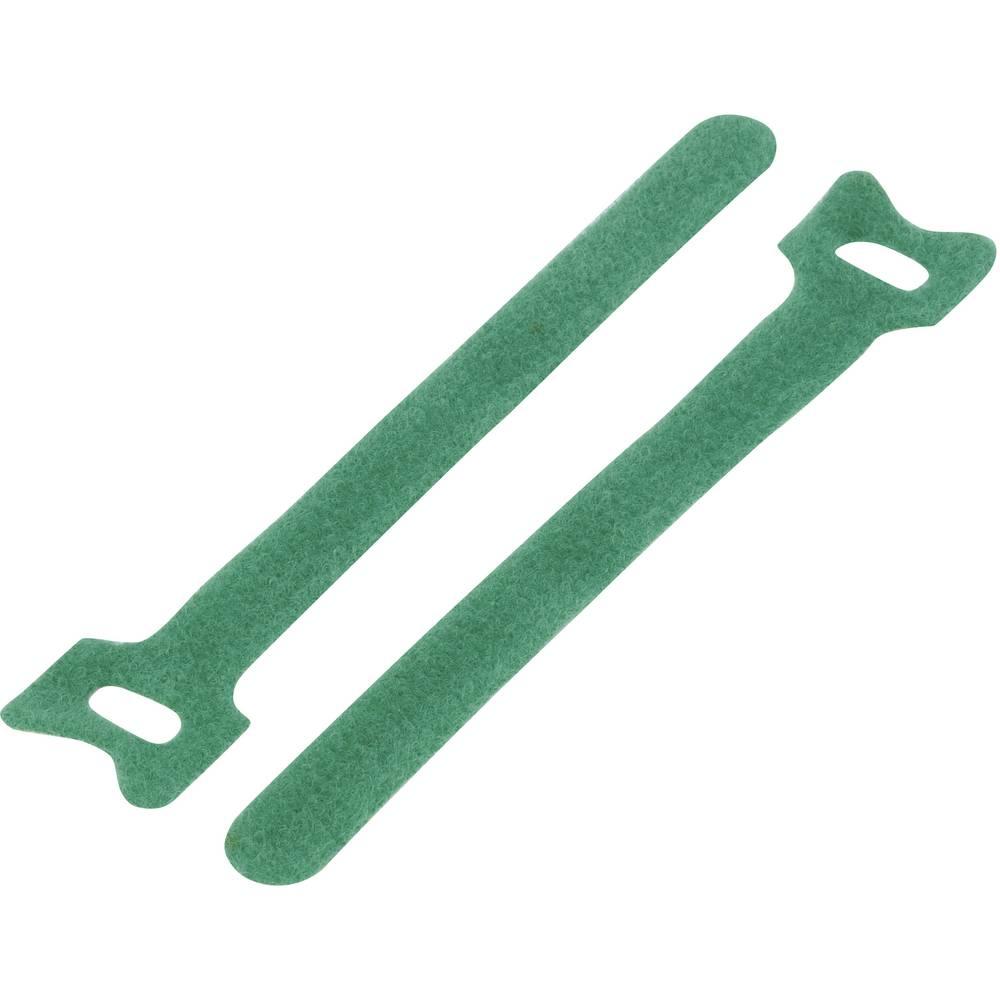 Sprijemalni trak za povijanje, oprijemen in mehek del (D x Š) 125 mm x 12 mm zelena KSS MGT-125GN 1 kos