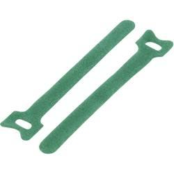 Sprijemalne kabelske vezice za povezovanje, oprijemni in mehki del (D x Š) 150 mm x 10 mm zelene barve TRU Components TC-MGT-150