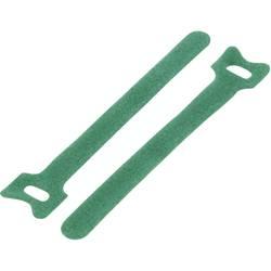 Sprijemalne kabelske vezice za povezovanje, oprijemni in mehki del (D x Š) 180 mm x 12 mm zelene barve TRU Components TC-MGT-180