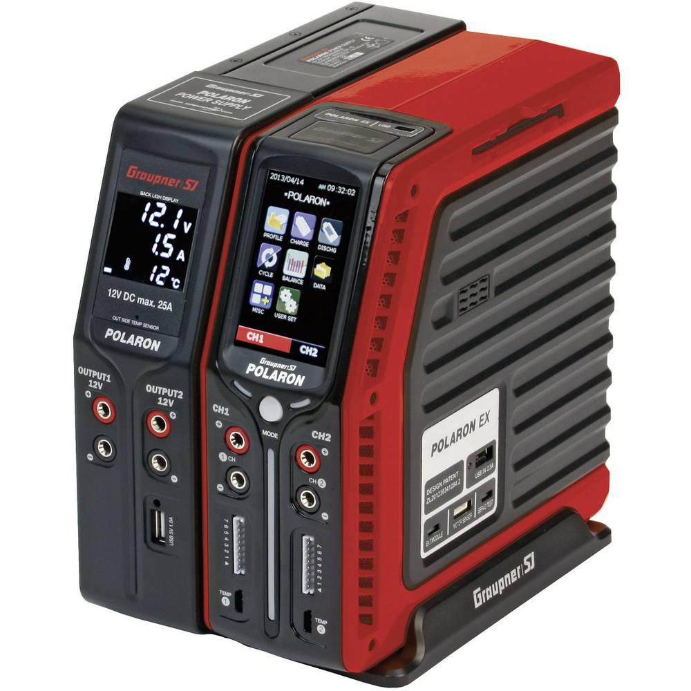 Multifunkcijski napajalnik za modelarstvo 12 V, 220 V 20 A Graupner Polaron EX Combo NiMH, NiCd, LiPo, LiIon, LiFe, svinčev