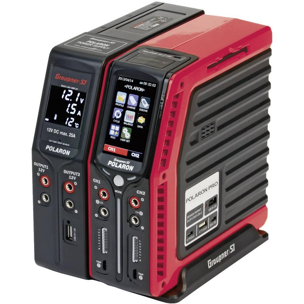 Multifunkcijski napajalnik za modelarstvo 12 V, 220 V 20 A Graupner Polaron Pro Combo LiPo, LiFe, LiIon, NiCd, NiMH, svinčev