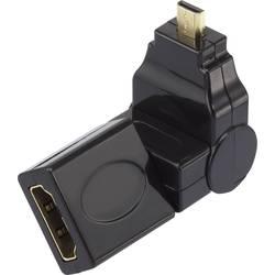 HDMI adapter [1x HDMI priključek Micro D   1x HDMI priključek] kut 360 črn pozlačeni konektor SpeaKa Professional