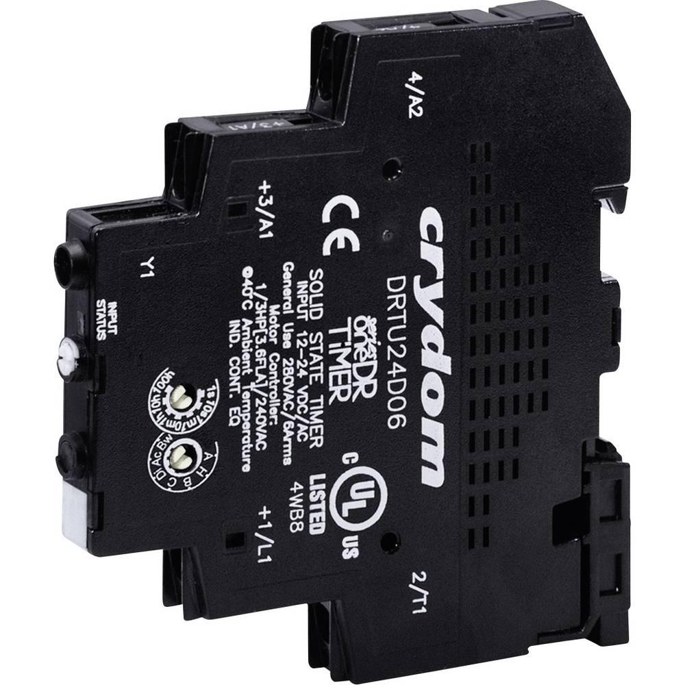 Časovni-pol-prevodni rele (Solid State Relay Timer) 1 kos Crydom DRTU24D06 preobremenitveni tok 6 A napetost 24 - 280 V/AC