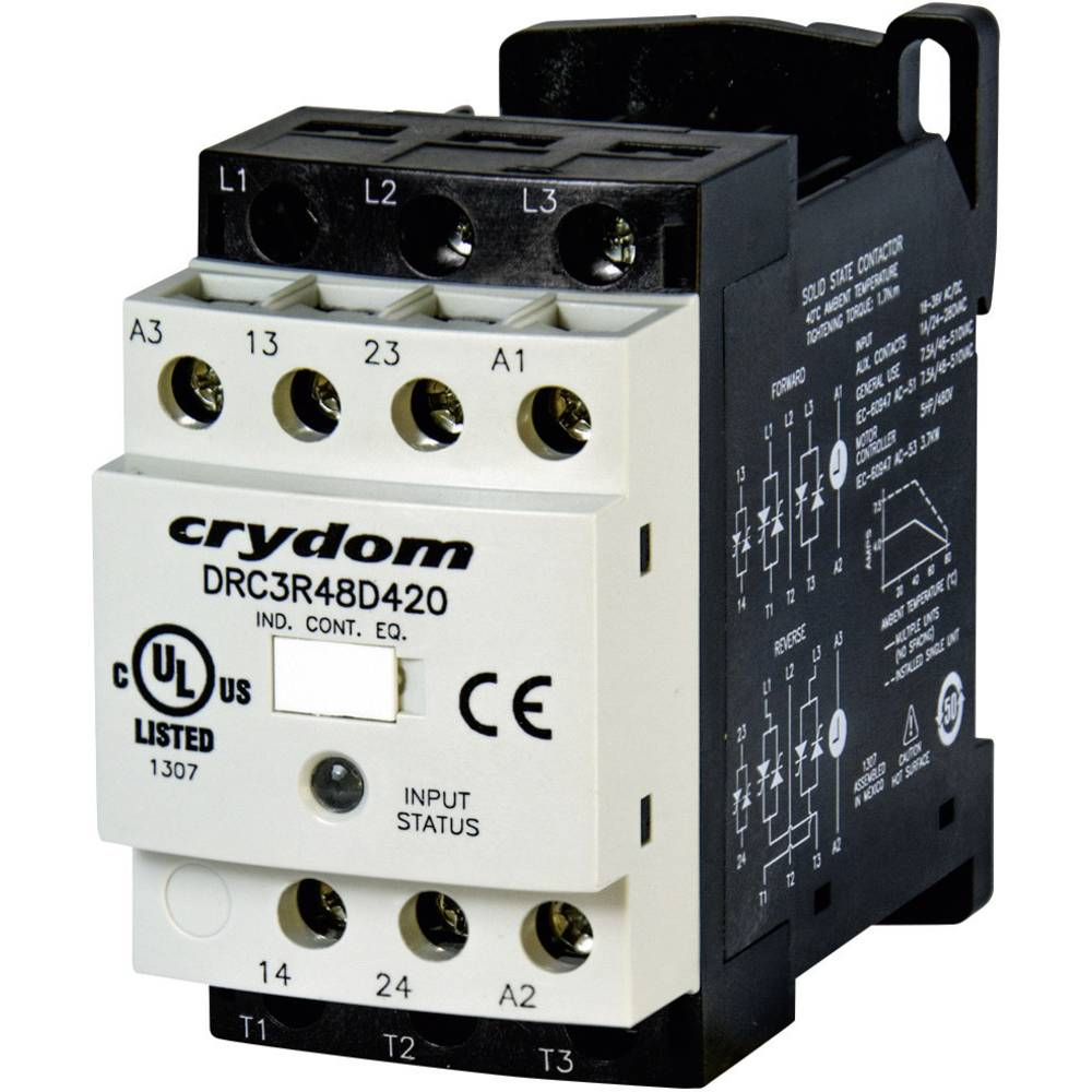 Vendekontaktor 1 stk DRC3R48D420 Crydom 24 V/DC, 24 V/AC 7.6 A