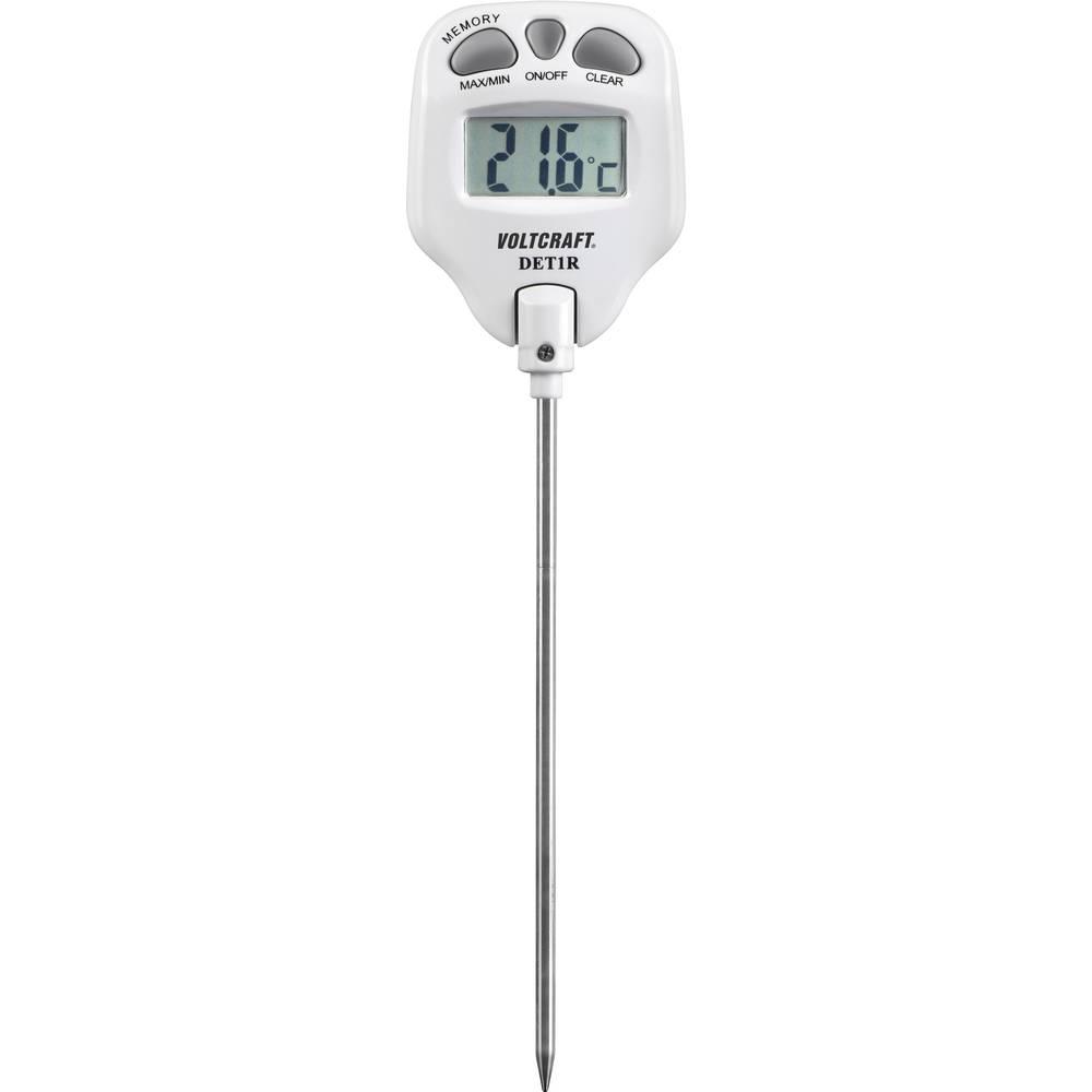 Vbodni termometer VOLTCRAFT DET1R merilno območje temperature -10 do 200 °C vrsta tipala: K