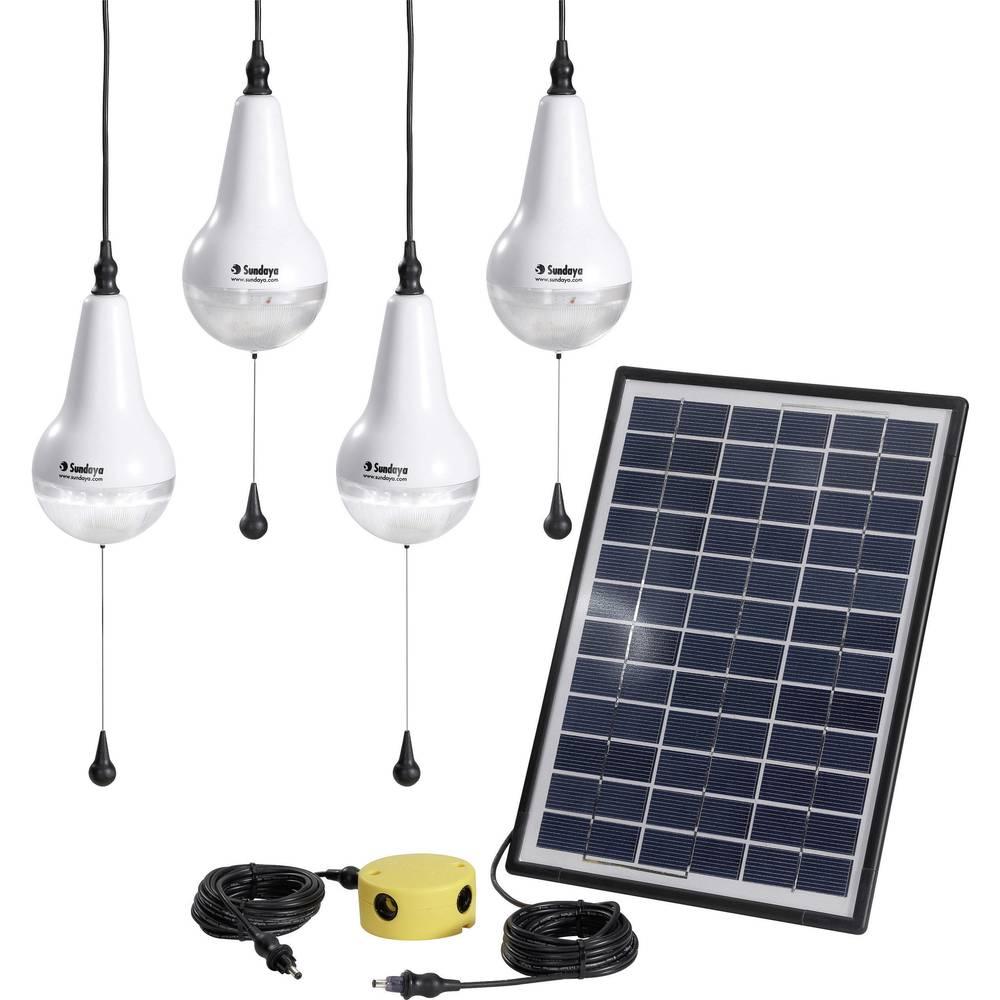 Solarni komplet sa žaruljom, uklj. spojni kabel Sundaya Ulitium 200 Lightkit 4 303208 snaga 12 Wp