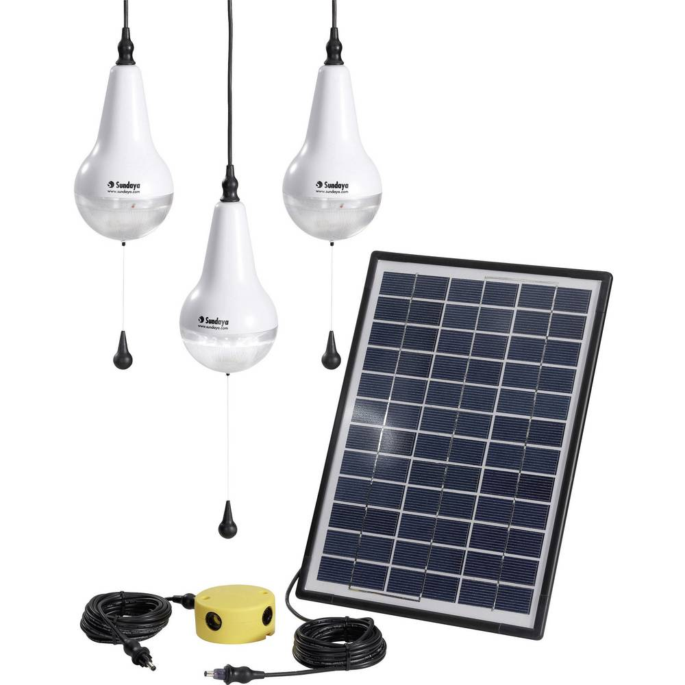 Solarni komplet s 3 žarulje, uklj. spojni kabel Sundaya Ulitium 200 Lightkit 3 303207 snaga 9 Wp