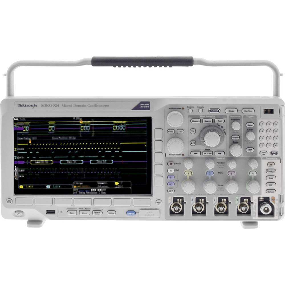 Kal. ISO Digitalni osciloskop Tektronix MDO3024 200 MHz 4-kanalni 2.5 GSa/s 10 Mpts 11 Bit kalibracija narejena po: ISO, digital