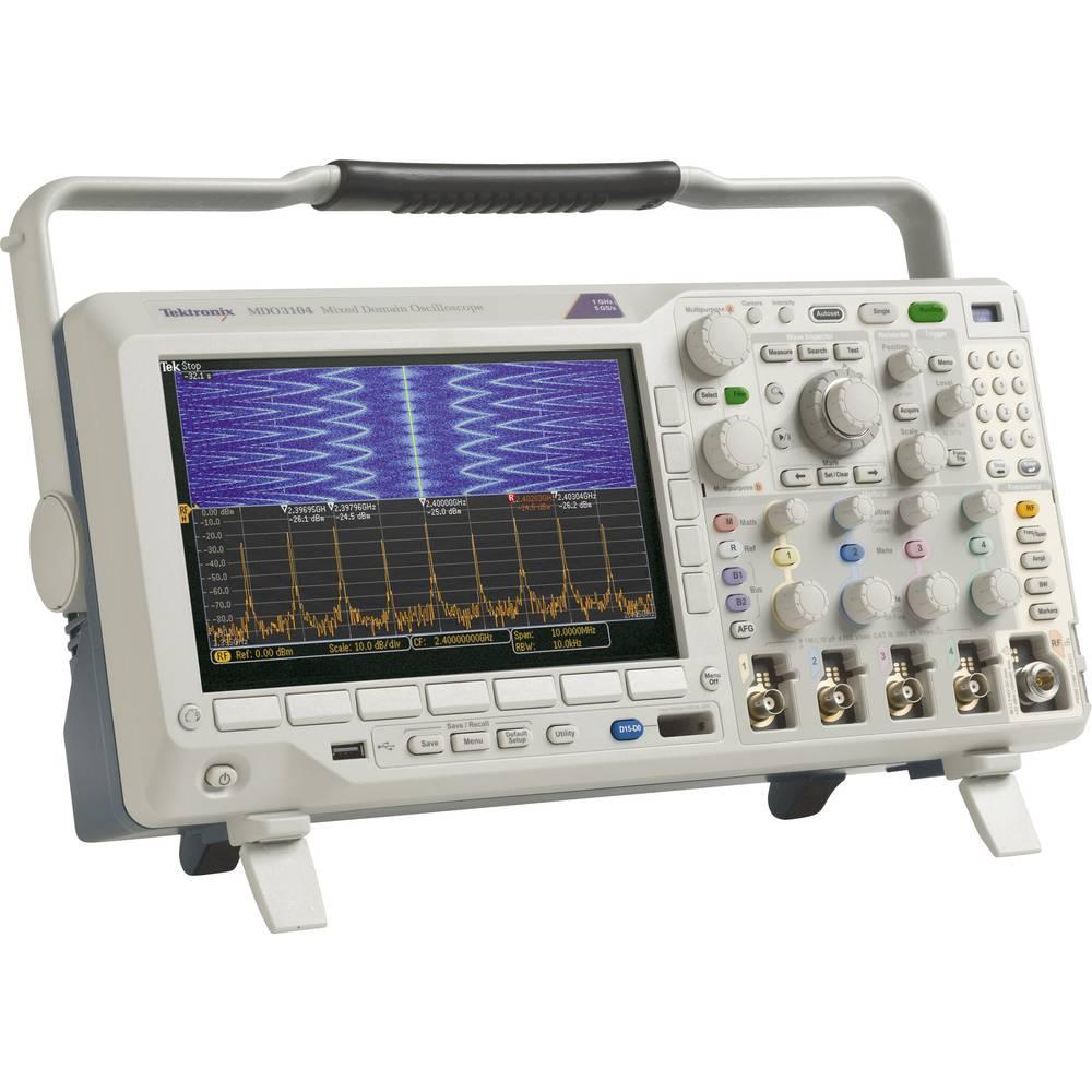 Digitalni osciloskop Tektronix MDO3014 100 MHz 4-kanalni 2.5 GSa/s 10 Mpts 11 Bit digitalni pomnilnik (DSO), mešani signal (MSO)