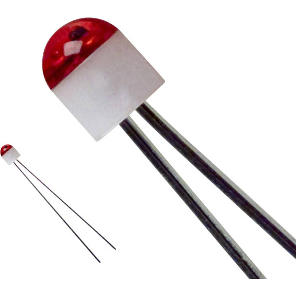 Ožičena LED dioda, rdeča, okrogla, 2 mm 10 mcd 160 ° 30 mA 1.7 V LUMEX SSL-LX203CSRT