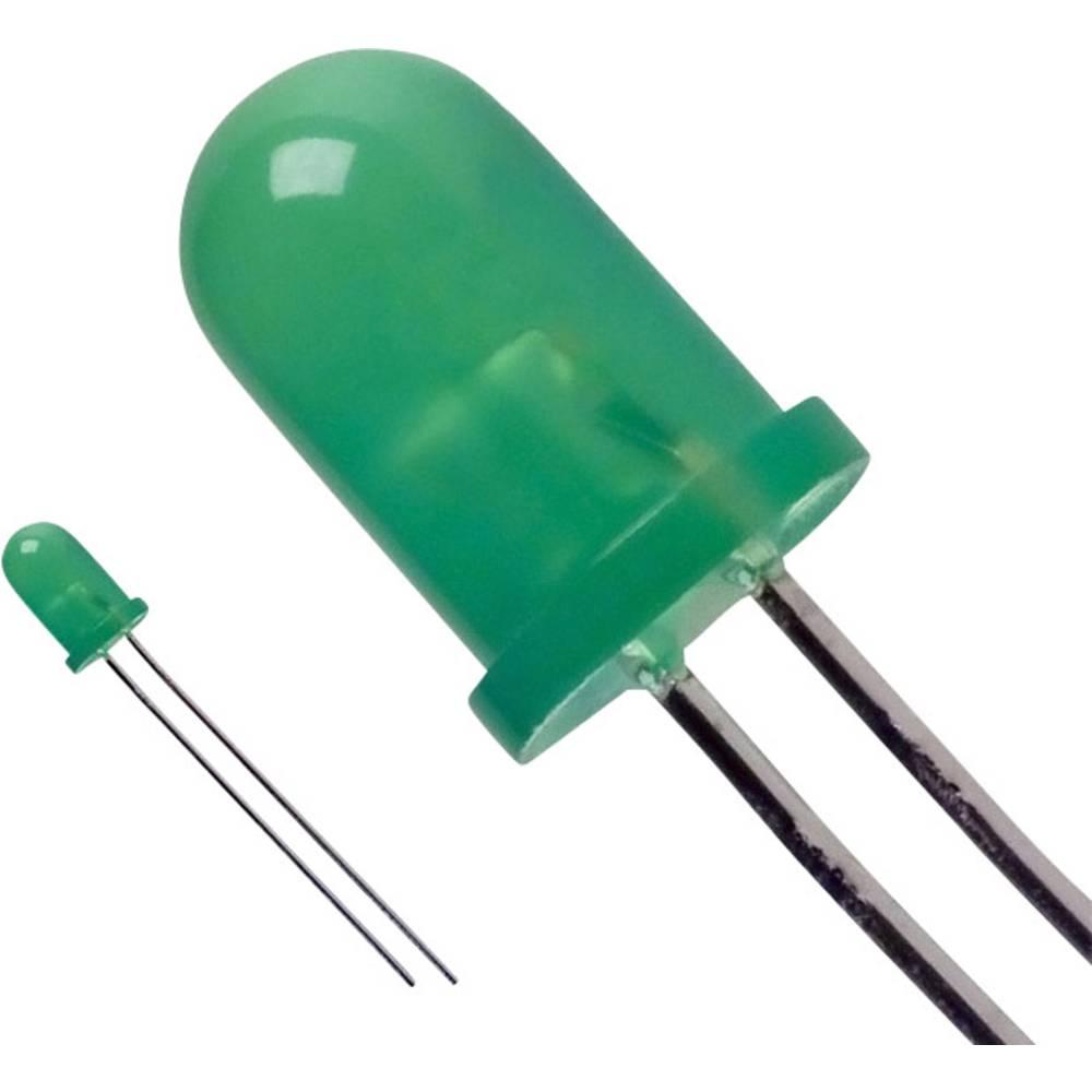 LED med ledninger LUMEX 5 mm 20 mcd 60 ° 20 mA 3 V Grøn
