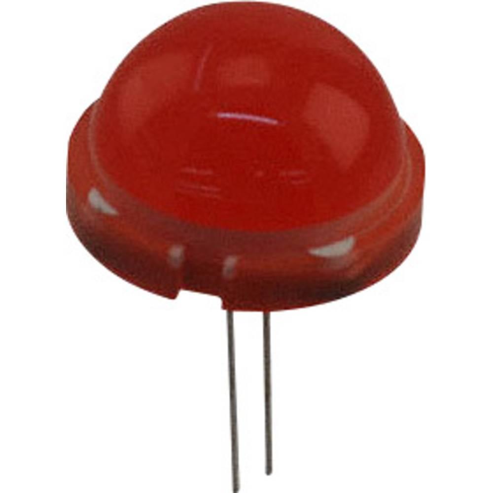 LED med ledninger LUMEX 20 mm 60 mcd 120 ° 30 mA 5.1 V Rød