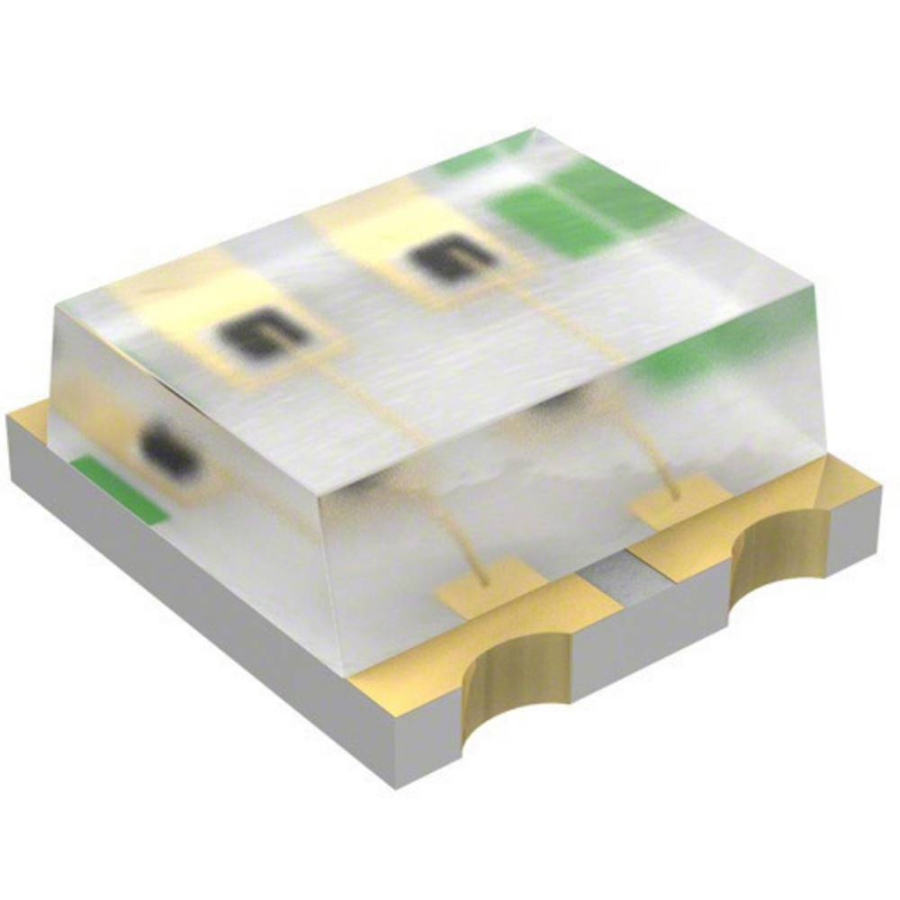 SMD-LED (value.1317393) LUMEX SML-LX0606YGC-TR 1616 10 mcd 120 ° Grøn, Gul