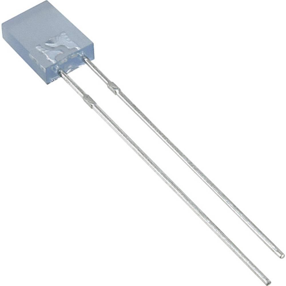 Ožičena LED dioda, modra, pravokotna 2 x 5 mm 70 mcd 110 ° 30 mA 3.5 V LUMEX SSL-LX2573USBD