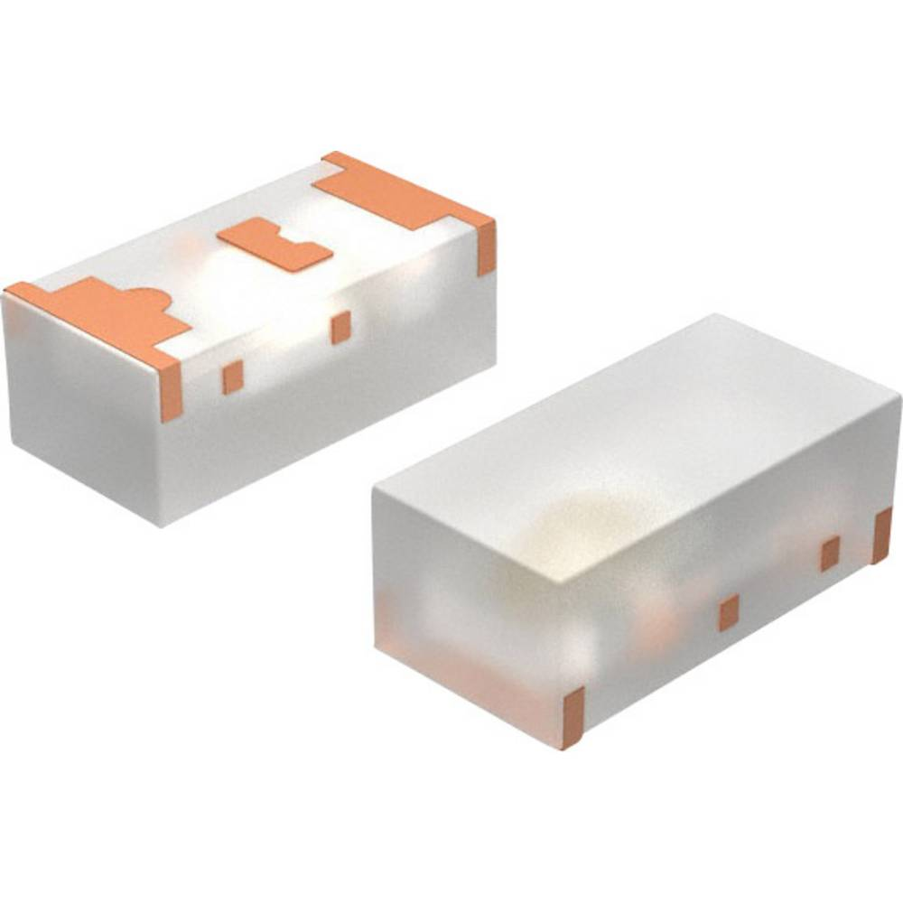 SMD LED Vishay TLMS1100-GS08 1608 63 mcd 160 ° Rød