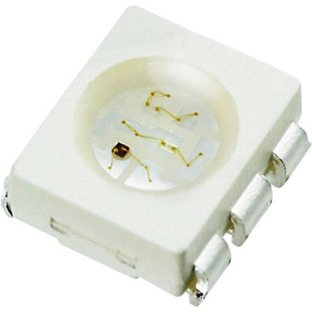 SMD-LED (value.1317393) Seoul Semiconductor SFT722N-S PLCC6 700 mcd, 1200 mcd, 200 mcd 120 ° Rød, Grøn, Blå