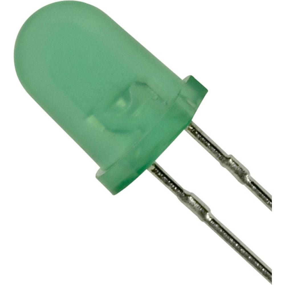 LED med ledninger Panasonic 5 mm 20 mcd 30 mA 2.2 V Grøn