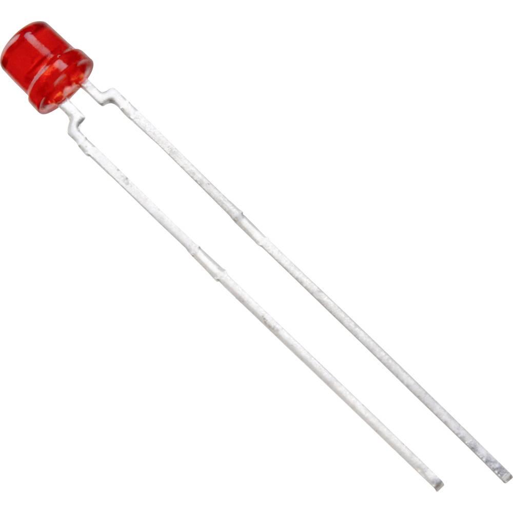 Ožičena LED dioda, rdeča, cilindrična 3 mm 55 mcd 170 ° 30 mA 2.4 V Vishay TLVH4200