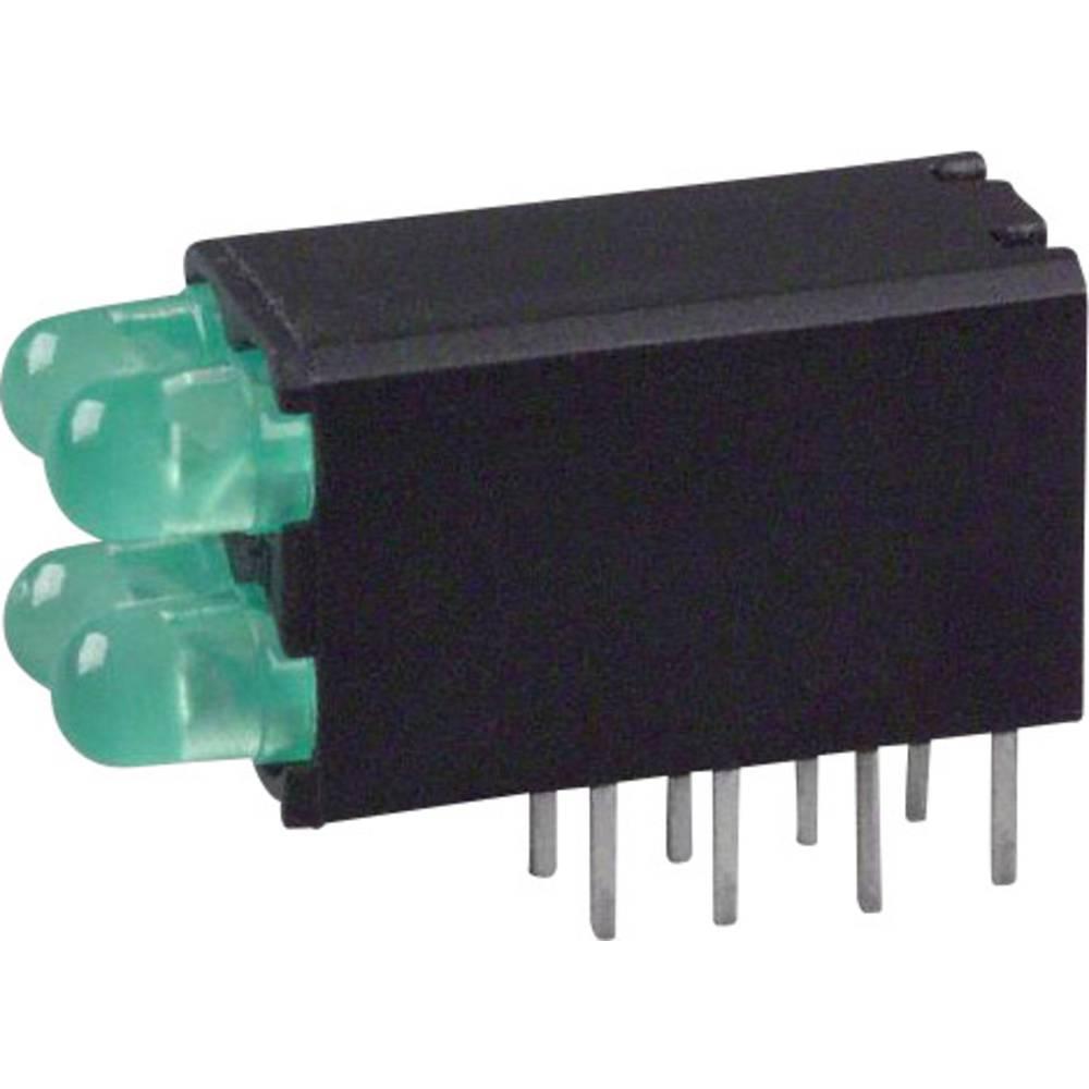 LED-komponent Dialight (L x B x H) 18.54 x 12.57 x 6.6 mm Grøn
