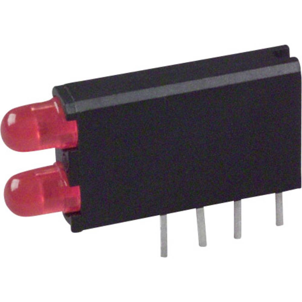 LED-komponent Dialight (L x B x H) 18.54 x 12.57 x 6.6 mm Rød