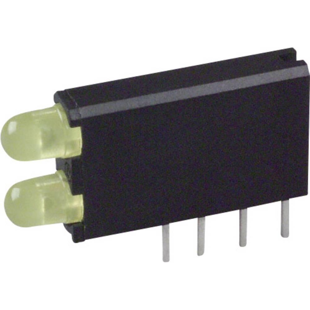 LED-komponent Dialight (L x B x H) 18.54 x 12.57 x 3.26 mm Gul