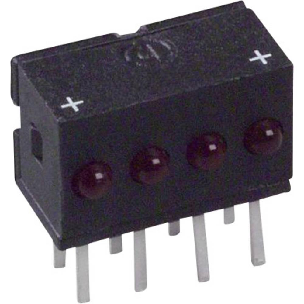 LED-Reihe (value.1317426) Dialight (L x B x H) 10.29 x 10.03 x 6.22 mm Rød