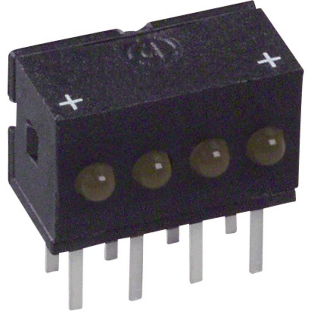 LED-Reihe (value.1317426) Dialight 555-4403F (L x B x H) 10.29 x 10.03 x 6.22 mm Gul