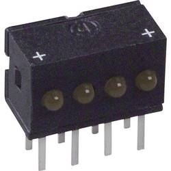 LED-Reihe (value.1317426) Dialight (L x B x H) 10.29 x 10.03 x 6.22 mm Gul