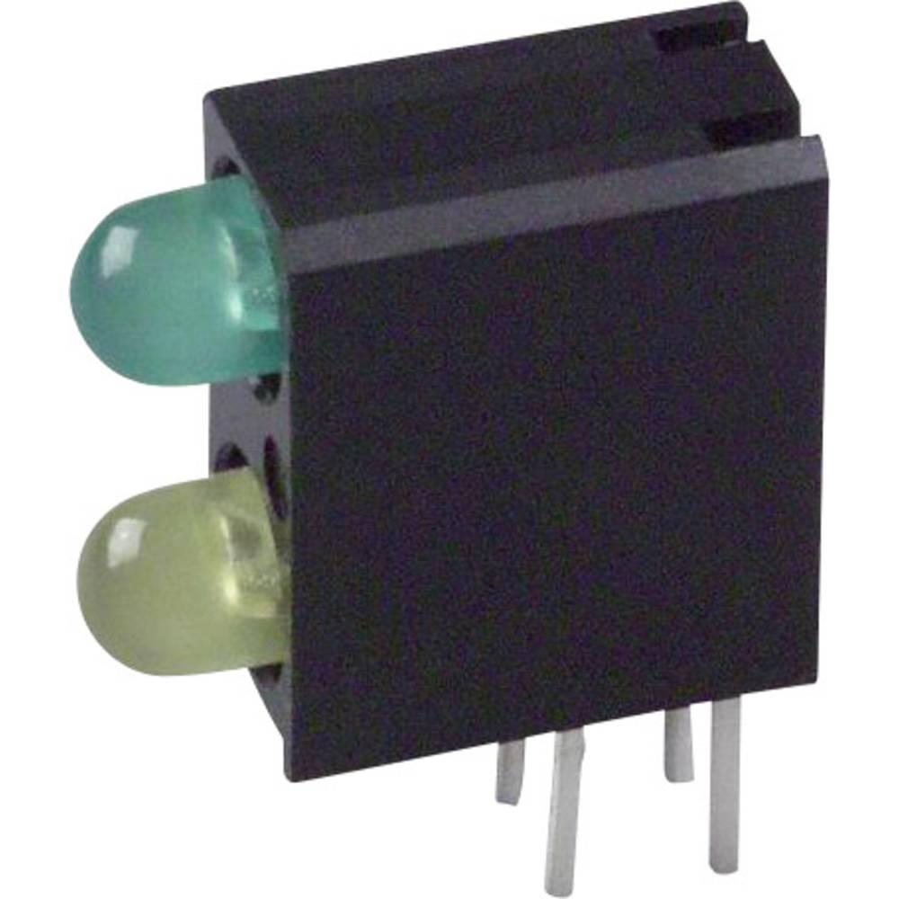LED-Baustein (value.1317427) Dialight (L x B x H) 13.33 x 11 x 4.32 mm Grøn, Gul
