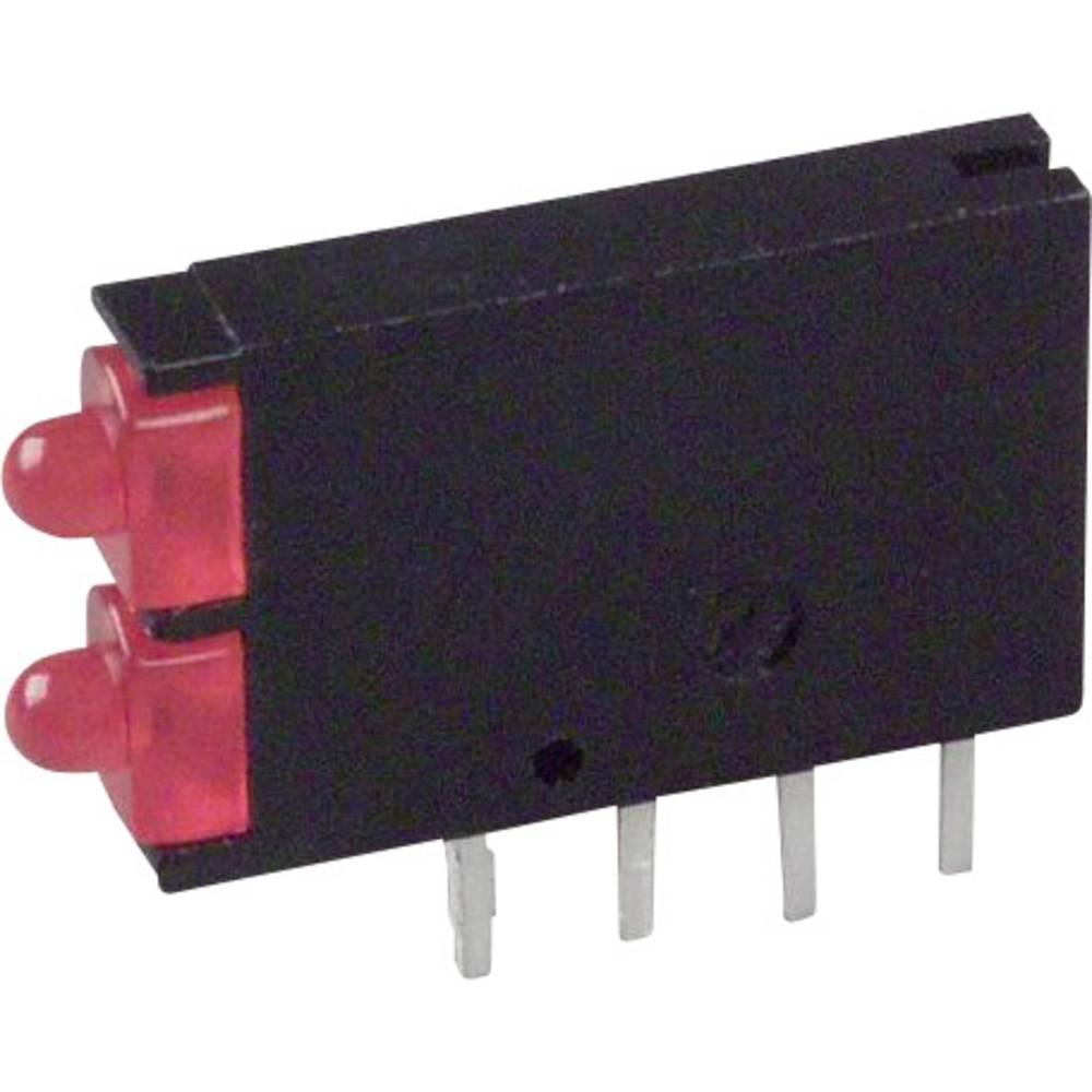 LED-Baustein (value.1317427) Dialight (L x B x H) 15.24 x 11.6 x 2.5 mm Rød
